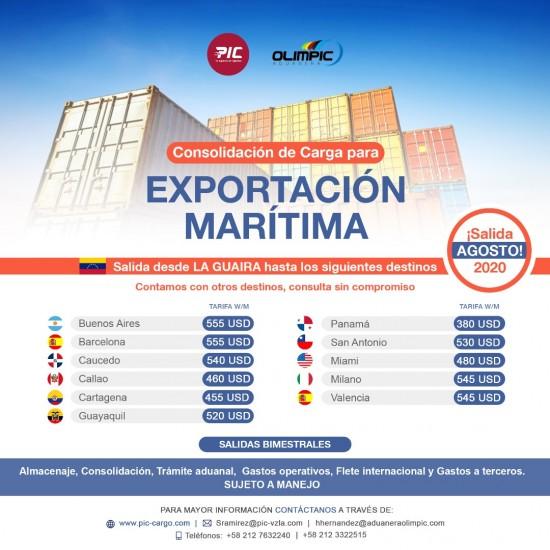 Exporta desde Venezuela - Salida Agosto 2020